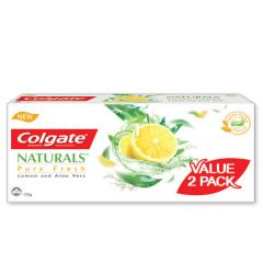 COLGATE NATURALS PURE FRESH TOOTHPASTE 120G 2S