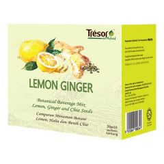 TRESOR EARTHFOOD LEMON GINGER TEA 20G 10S