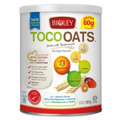 BIOLEY TOCO OATS (NEW IMPROVED FORMULA) 480G + 60G