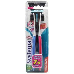 SYSTEMA CHARCOAL SUPERTHIN TOOTHBRUSH SOFT 2S