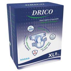 DRICO ADULT DISPOSABLE DIAPER 127-155CM 8S - XL SIZE