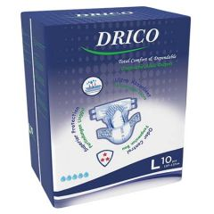 DRICO ADULT DISPOSABLE DIAPER 107-137CM 10S - L SIZE
