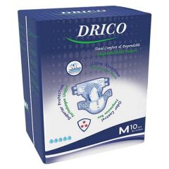 DRICO ADULT DISPOSABLE DIAPER 81-112CM 10S - M SIZE