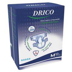 DRICO ADULT DISPOSABLE DIAPER 81-112CM 10S - M SIZE