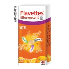 FLAVETTES VITAL VITAMIN C + D3 + CALCIUM ORANGE EFFERVESCENT TABLET 30S