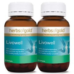 HERBS OF GOLD LIVOWELL SOFTGEL 60S X 2