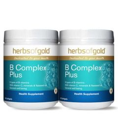 HERBS OF GOLD VITAMIN B COMPLEX PLUS SOFTGEL 90S X 2