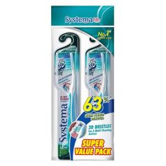 SYSTEMA TOOTHBRUSH SUPER VALUE PACK 3D CLEAN 2S