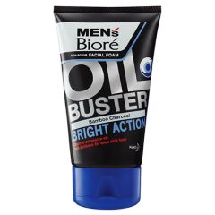 BIORE MENS FACIAL FOAM OIL BUSTER BAMBOO CHARCOAL BRIGHT ACTION 100G