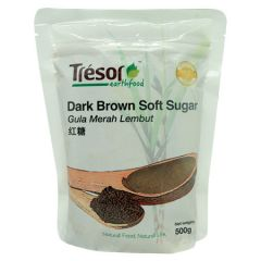 TRESOR EARTHFOOD DARK BROWN SOFT SUGAR 500G