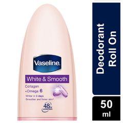 VASELINE DEODORANT ROLL ON WHITE & SMOOTH 50ML