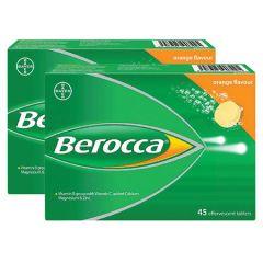 BEROCCA VITAMIN B+C ORANGE EFFERVESCENT TABLET 45S X 2