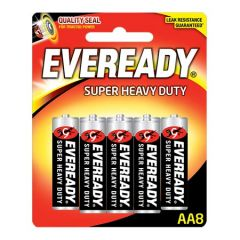 EVEREADY SUPER HEAVY DUTY AA BATTERY 8S