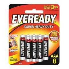 EVEREADY SUPER HEAVY DUTY AAA BATTERY 8S