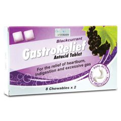 GASTRORELIEF ANTACID TABLET BLACKCURRANT 8S X 2