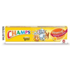 CHAMPS VITAMIN C 250MG PLUS ZINC EFFERVESCENT TABLET 15S