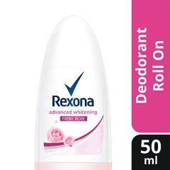 REXONA WOMEN DEODORANT ROLL ON ADVANCED WHITENING FRESH ROSE 50ML