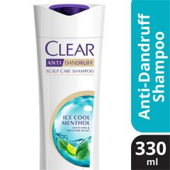 CLEAR ANTI-DANDRUFF ICE COOL MENTHOL SHAMPOO 330ML