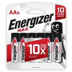 ENERGIZER MAX AA BATTERY 6S