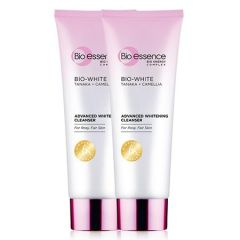 BIO-ESSENCE BIO-WHITE ADVANCED WHITENING CLEANSER 100G X 2