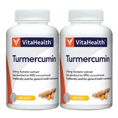 VITAHEALTH TURMERCUMIN VEGETABLE CAPSULE 60S X 2