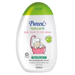 PUREEN NATURAL-H BABY HEAD TO TOE WASH HYPOALLERGENIC 250ML