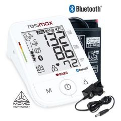 "ROSSMAX BLOOD PRESSURE MONITOR WITH ""PARR"" & BLUETOOTH TECHNOLOGY (FREE ADAPTOR) MODEL: X5 BLUETOOTH"