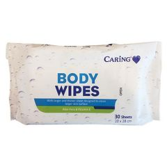 CARING BODY WIPES 30S