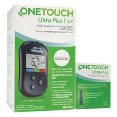ONETOUCH ULTRA PLUS FLEX BLOOD GLUCOSE STARTER KIT + ULTRA PLUS STRIP 50S