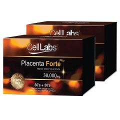 CELLLABS PLACENTA FORTE PLUS SHEEP PLACENTA 30000MG CAPSULE (30S + 30S) X 2