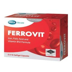 MEGA WE CARE FERROVIT IRON SUPPLEMENT SOFTGEL CAPSULE 10S X 5