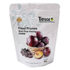 TRESOR EARTHFOOD PITTED PRUNES 180G