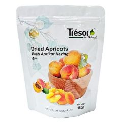 TRESOR EARTHFOOD DRIED APRICOTS 180G