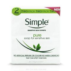 SIMPLE PURE SOAP 125G X 2