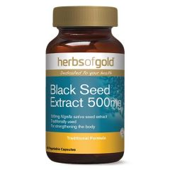 HERBS OF GOLD BLACK SEED EXTRACT 500MG VEGETABLE CAPSULE 60S