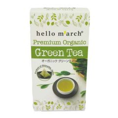 HELLO MARCH PREMIUM ORGANIC GREEN TEA BAG 2G X 20S