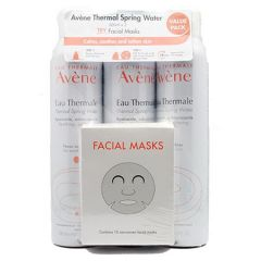 AVENE THERMAL SPRING WATER 300ML X 3 + FACIAL MASK 15S