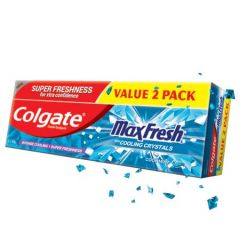 COLGATE MAX FRESH COOLING CRYSTALS COOL MINT TOOTHPASTE 160G X 2