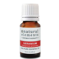 NATURAL ELEMENTS AROMATHERPY GERANIUM PURE ESSENTIAL OIL 10ML