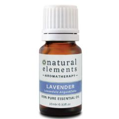 NATURAL ELEMENTS AROMATHERPY LAVENDER PURE ESSENTIAL OIL 10ML