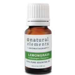 NATURAL ELEMENTS AROMATHERPY LEMONGRASS PURE ESSENTIAL OIL 10ML