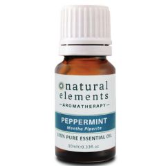 NATURAL ELEMENTS AROMATHERPY PEPPERMINT PURE ESSENTIAL OIL 10ML