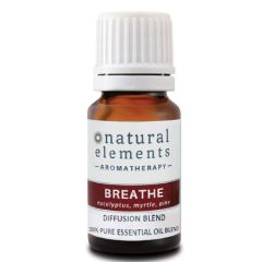 NATURAL ELEMENTS AROMATHERPY BREATHE ESSENTIAL OIL BLEND 10ML