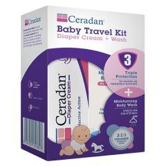 CERADAN BABY TRAVEL KIT 1S (DIAPER CREAM 10G + BODY WASH 30ML)
