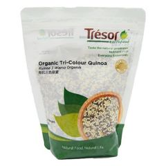 TRESOR EARTHFOOD ORGANIC TRI-COLOUR QUINOA 500G
