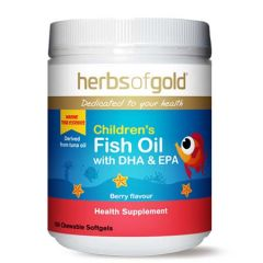 HERBS OF GOLD CHILDREN FISH OIL WITH DHA +EPA 150S