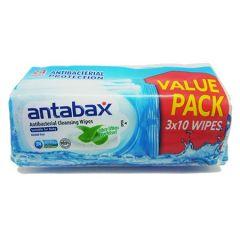 ANTABAX ANTIBACTERIAL CLEANSING WIPES 10S X 3