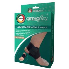 LPM ORTHOFLEX 568 ADJUSTABLE ANKLE WRAP (DUAL STRAP) - FREE SIZE
