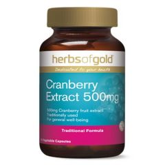 HERBS OF GOLD CRANBERRY EXTRACT 500MG VEGETABLE CAPSULE 90S