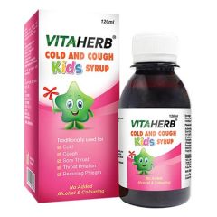 VITAHERB COLD AND COUGH KIDS SYRUP 120ML